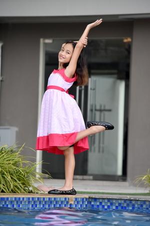 Dancing Petite Minority Female Wearing Dress