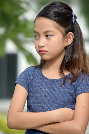 Stubborn Filipina Person Stock Photo - 115759341