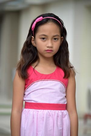 Serious Pretty Filipina Teen Girl
