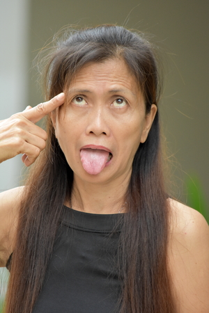 Female Senior With Alzheimers