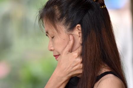 Retired Female Senior Alone