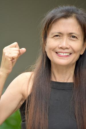 Proud Old Filipina Grandma