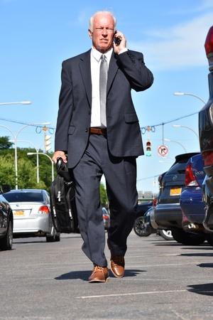 Tall Business Man Investor Walking
