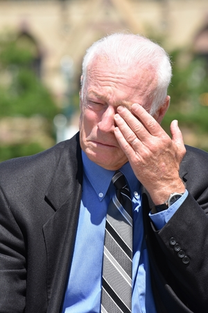 Tearful Adult Senior Investor