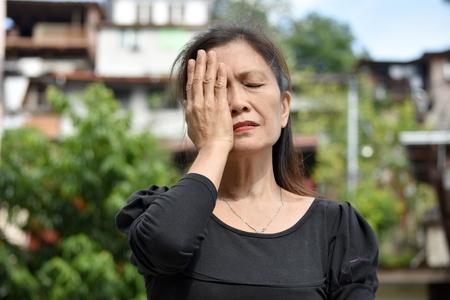 A Shameful Filipina Person Stock Photo - 116279825