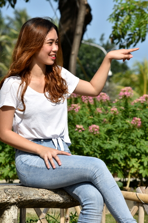 A Minority Female Pointing