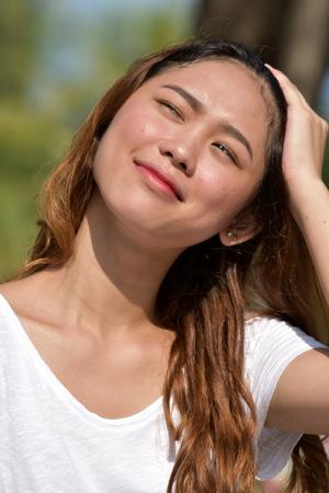 Beautiful Filipina Female Wondering