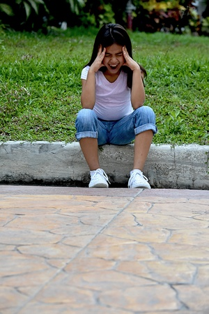 A Child Under Stress Stock Photo