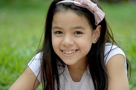 A Smiling Filipina Female