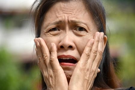 Surprised Retired Minority Person