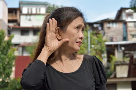 A Female Senior Hearing