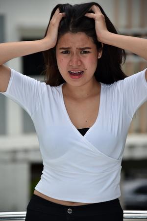An Anxious Female Woman