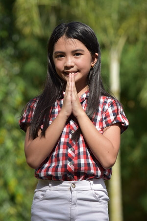 Young Diverse Tween In Prayer