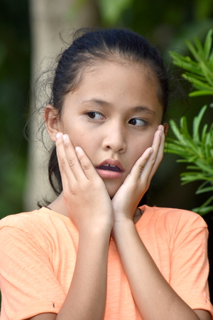 A Startled Filipina Female