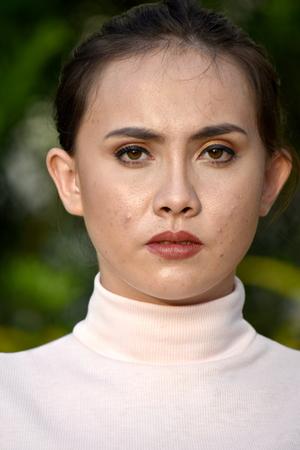 Serious Minority Female Woman