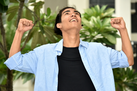 A Victorious Male Person