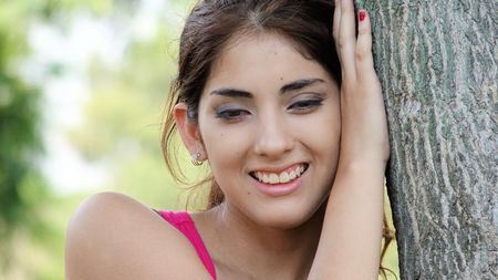 Young Latina Female Smiling
