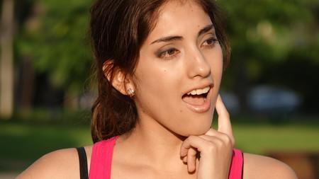 Creative Youthful Latina Female Stock Photo