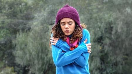 Cute Peruvian Girl Alone And Cold
