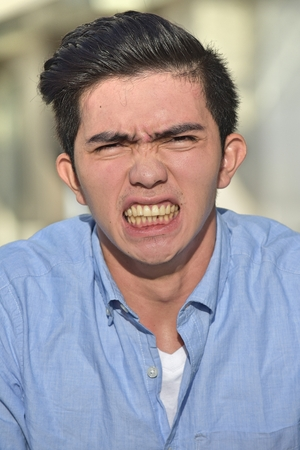 An Anxious Asian Male