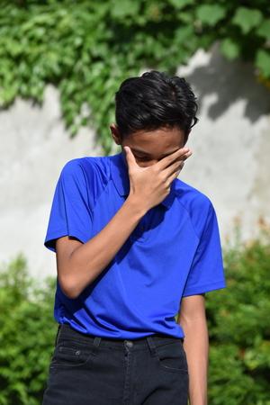 Teenager Boy And Failure Stok Fotoğraf