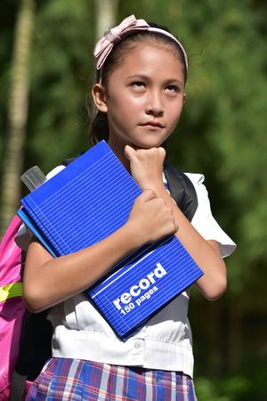 A Thoughtful School Girl