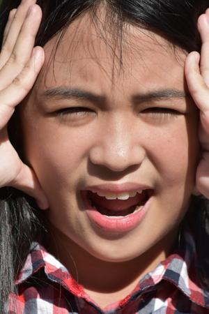 Anxious Young Filipina Person