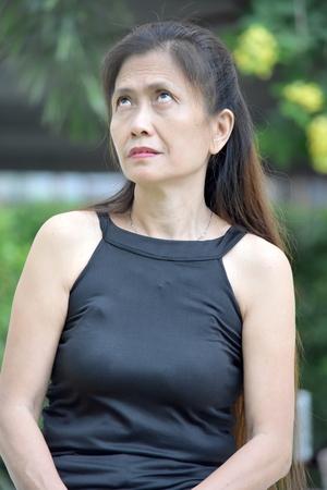 An Apathetic Female Senior