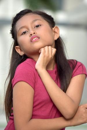 An Asian Female Posing