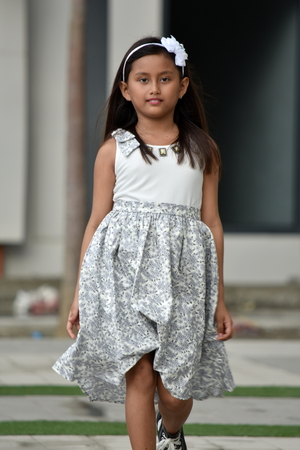 A Filipina Female Walking