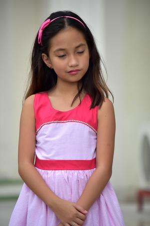 Impatient Teenager Girl Wearing Dress