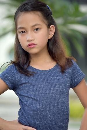 Serious Filipina Teen Girl