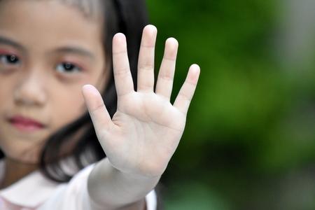 Abuse Of Beautiful Asian Girl Child Stock Photo