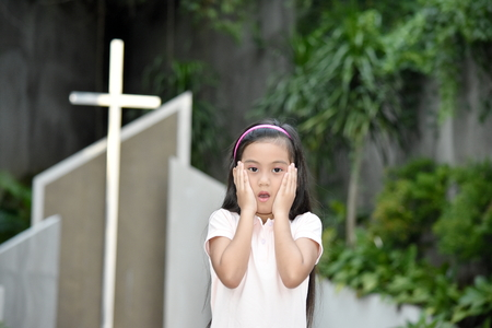 Surprised Girl Preteen At Church
