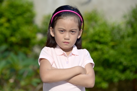 Stubborn Filipina Female Tween 写真素材