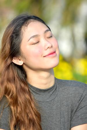 Hopeful Beautiful Filipina Person Stock fotó