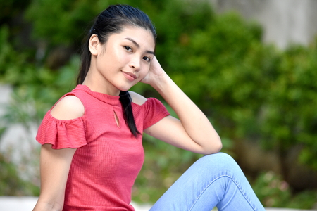 Relaxing Filipina Teen Girl