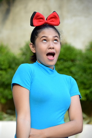 Happy Young Filipina Adult Female