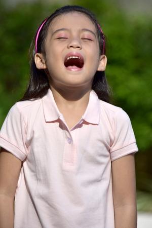 Anxious Beautiful Asian Girl Preteen