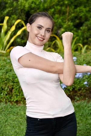 A Diverse Female Stretching
