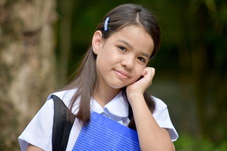 A Contemplative Filipina Person
