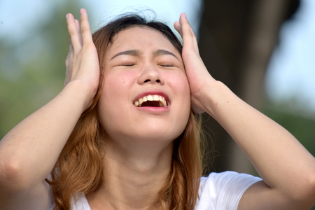 A Female Under Stress 写真素材