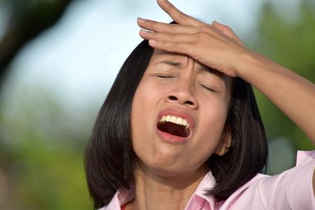 A Female With Headache