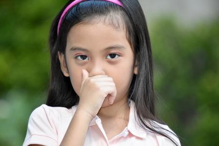 Cute Minority Female With Allergies