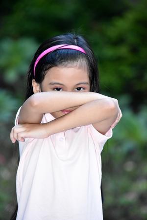 Bashful Beautiful Asian Girl Child