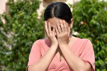 A Shameful Filipina Female Stock Photo