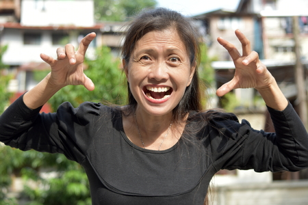 An Intimidating Female Senior
