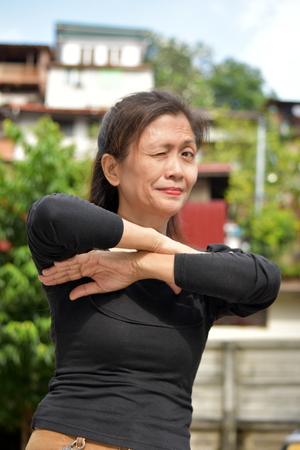 Winking Asian Female Senior