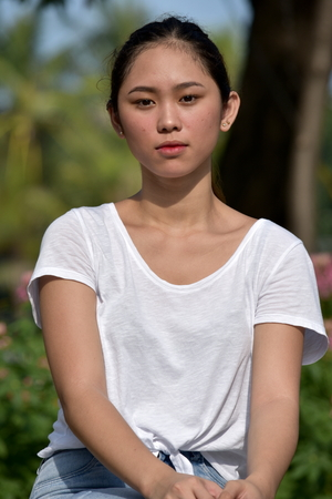 A Serious Filipina Female