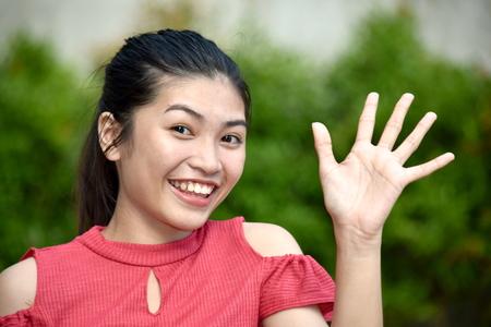 Friendly Cute Filipina Person